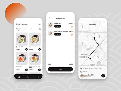 Sushi delivery App app ui design