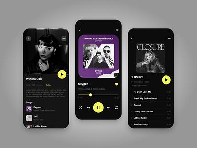 Music player app ux ui app design