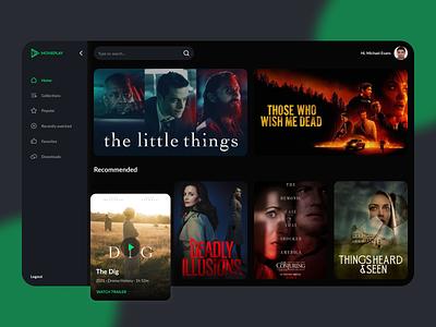 Online cinema web app web app ui design