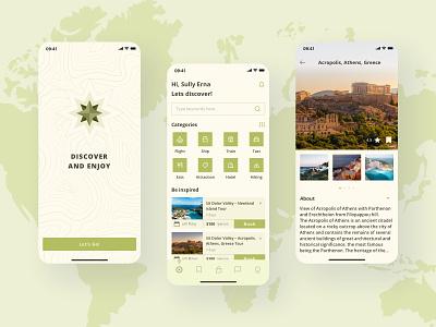 Travel app ux app ui design