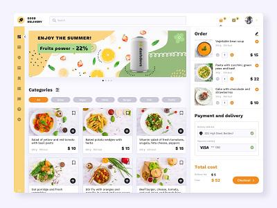 Delivery service web app delivery web app ui design