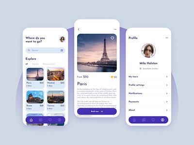 Travel app travel app ui design