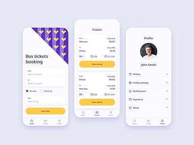 Tickets booking app booking app ui design