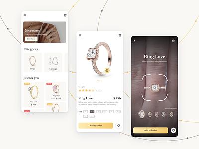 Jewelry shopping app app ui design