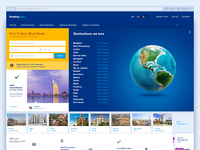 Booking.com homepage destinations