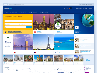 Booking.com redesign concept.