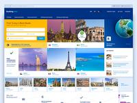 Booking.com redesign concept.
