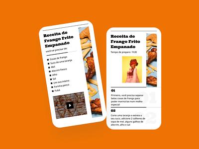 DailyUI - #040: Recipe graphicdesign interface ux ui uidesign uxdesign design pexels typography app recipe dailyui