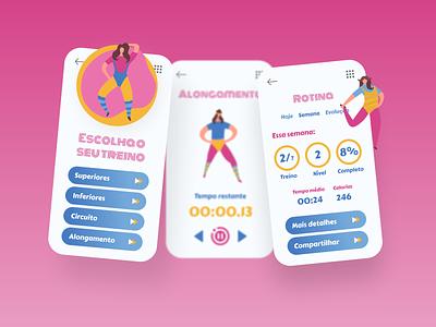 DailyUI - #041: Workout Tracker health figma illustration design memphis graphic design design health monitoring workout tracker uxdesign uidesign ux ui dailyui