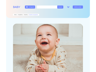 DailyUI - #056: Breadcrumbs breadcrumbs ecommerce baby graphic design design uxdesign uidesign ux ui dailyui