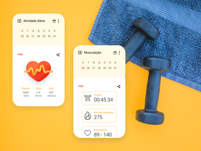 DailyUI - #062: Workout of the Day work out exercise gym gym uidesign graphic design figma ux ui design dailyui
