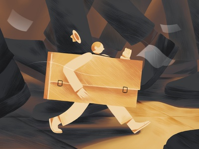 Cover design job work animation time mentalhealth editorial illustration editorial illustration