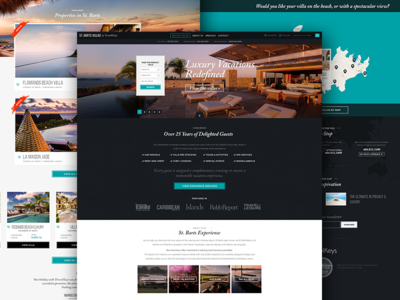 Travelkeys: Microsite Homepage user interface black turquoise home map destination vacation travel villa luxury