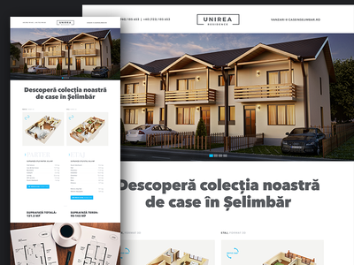 Landing page for Unirea Residence rendering 3d apartments residence landing page clean responsive web typography minimalistic ux ui