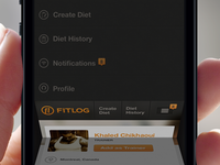Fitlog Mobile Navigation Preview