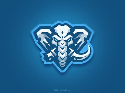 Tusks elephant sport logo illustration mascot branding logo