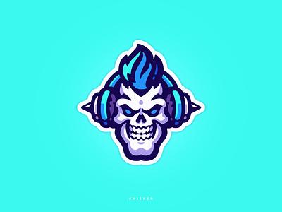 MetalHead rock metal skull sport logo sport logo mascot
