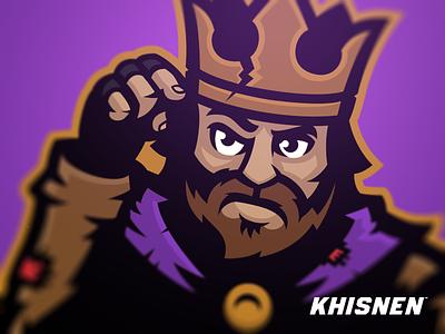 A Broke King sport logo sport branding logo royal king mascot