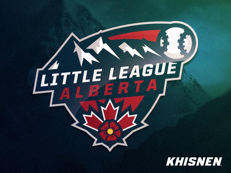 Little League camp branding sport event logo sport little league alberta baseball
