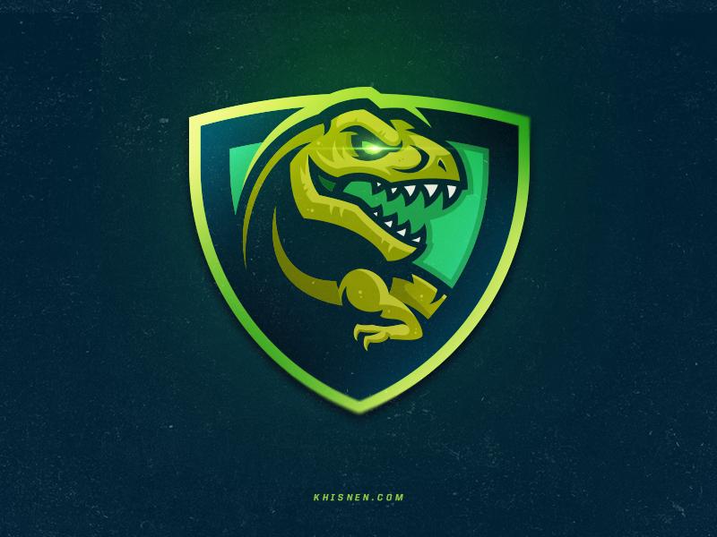 T-Rex tyrno dinosaur designs branding gaming sport mascot graphic logo t-rex tyrannosaurus jurassic