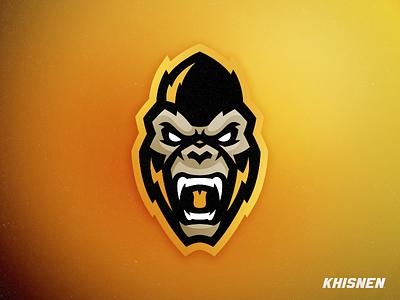 Gorilla sport branding sport ape gorilla mascot logo monkey
