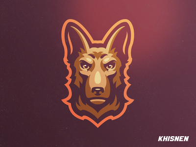 German Shepherd pet illustration logo german shepherd mascot animal dog