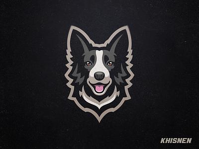 Border Collie bordie collie illustration logo breed pet mascot animal dog