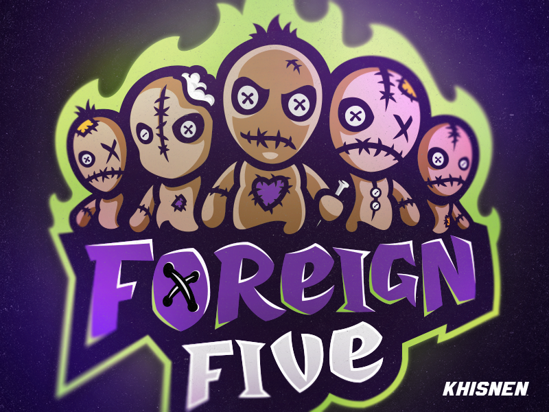 Foreign Five logo illustration puppet voodoo doll