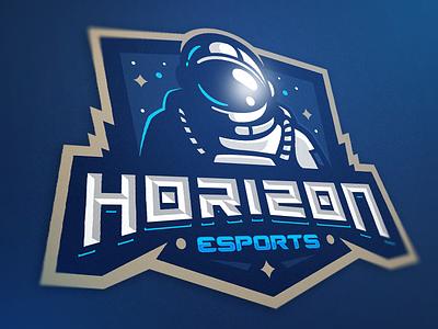 Horizon eSports identiry esports astronaut logo space suit space horizon