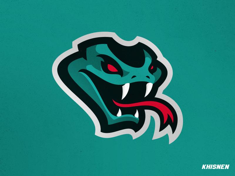 Viper animal logotype mark reptile viper illustration logo snake