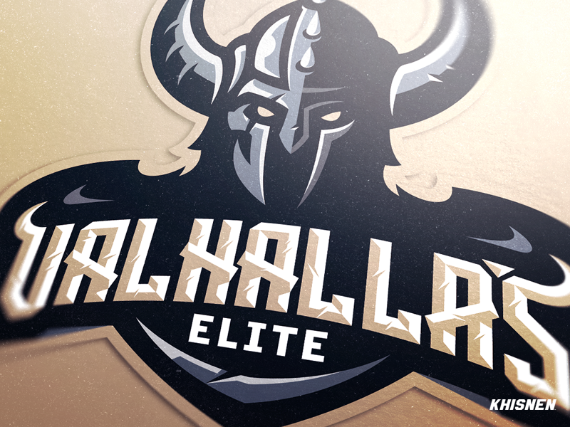 Valhalla's Elte esports logo identity warrior branding gaming logo viking