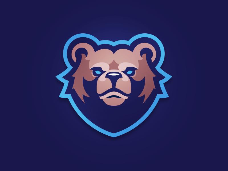 Blue Bear logos bears sports grizzly logotype mascot branding