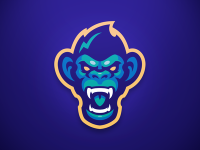 Angry Chimp branding sports logo chimp mascot ape logo monkey