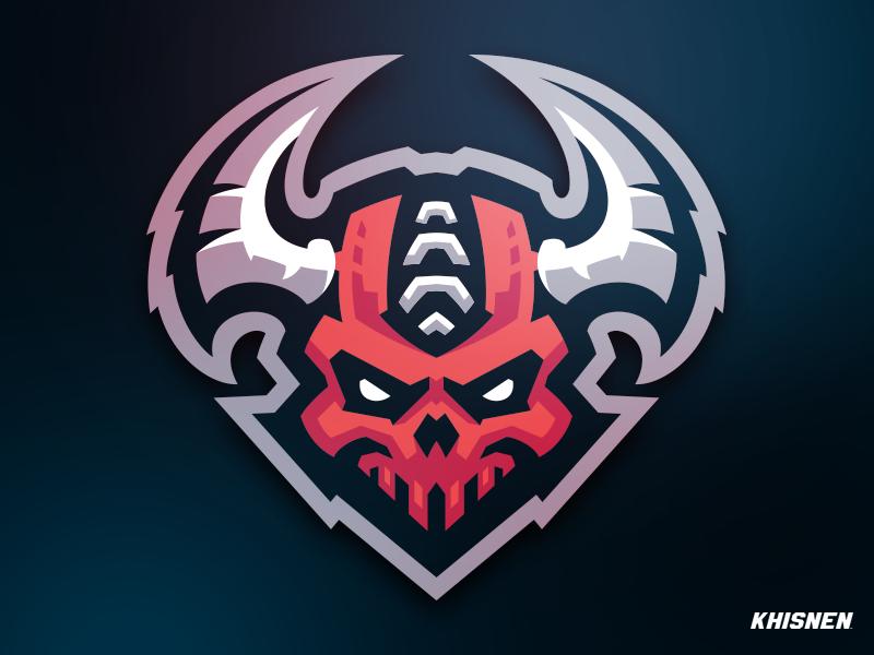 Demons skull esports mascot logo demon devil