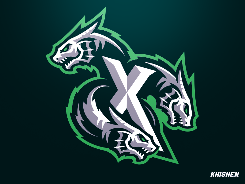 Hydra gaming esports hydra dragon sea monster logo branding illustration