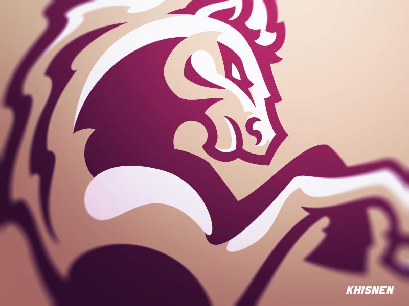 Mustang horse sports logos mascot logos