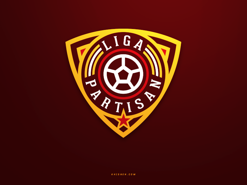 Liga Partisan sports branding shield logotype icon badge soccer sports logo