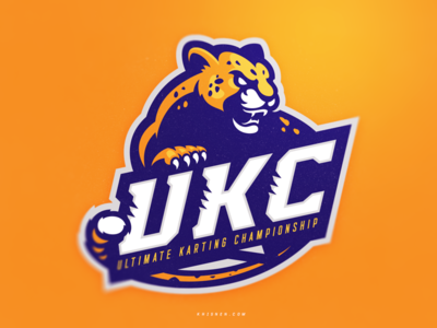 UKC cheetah karting icon mark sports logo illustration sport logo sport branding mascot