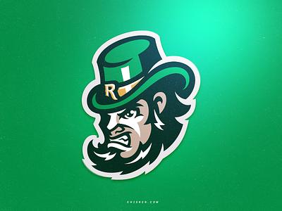 Leprechaun Mascot sports logos irish man highschool icon logotype branding mascot