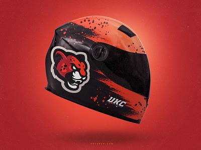 UKC - Ultimate Karting Championship racing cheetah logos sports branding go kart animal mark logotype