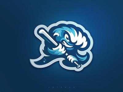 Riverhead Waves Mascot baseball waves logos branding sports logo illustration logotype mascot