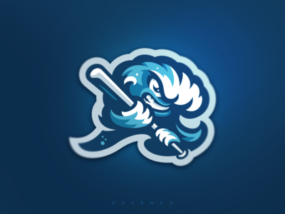Riverhead Waves Mascot baseball waves logos branding sports logo illustration logotype mascot