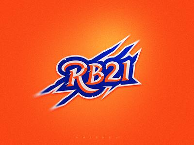RB21 mark logo logotype sports logo illustration sport mascot