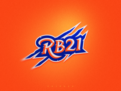 RB21 mark logo logotype sports logo illustration sport mascot