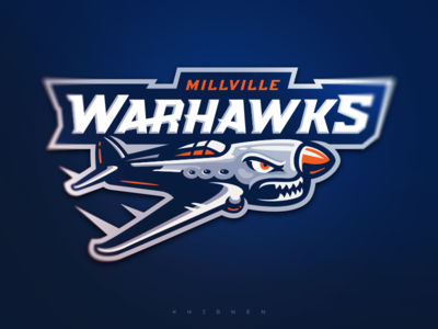 Millville Warhawks logo vector gaming logos sports logo logotype illustration mascot