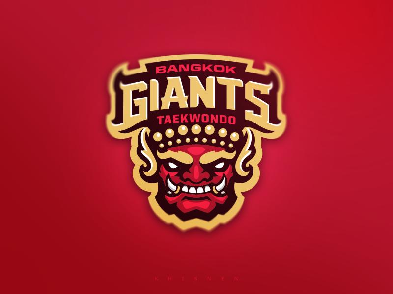 Bangkok Giants Taekwondo vector illustration sports taekwondo mma branding sport logo logodesigns mascot logo
