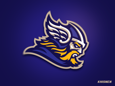Norsemen branding sport logo vector mascot logo thor mascot viking