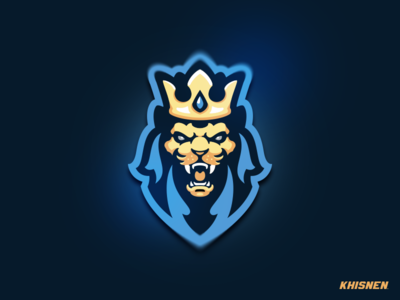 Royal lion king lion head sports logo logo mascot