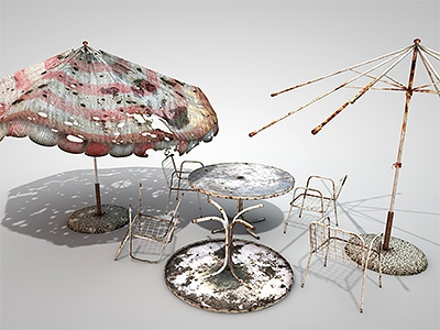 3d props for Raindrop 3d rendering modeling texturing cinema 4d rust rusty grunge models game