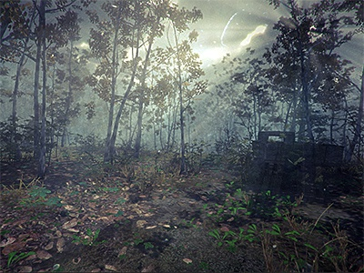 Unity3d in-game Screengrab unity3d game indie rendering modeling textures lighting forest green foliage plant tree